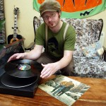 Singer Stefan Hanvey pictured with his Object of Desire -  Bob Dylan's Freewheelin' album.   Pic: BILLY HIGGINS STAFF